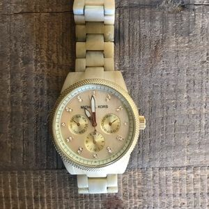 Michael Kors Bone Ceramic Watch